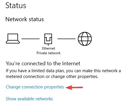 conexión privada