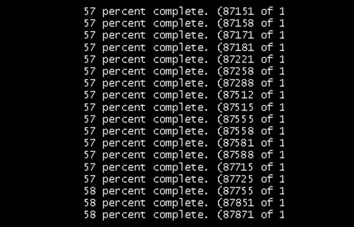 Resultado de la verificación del disco duro