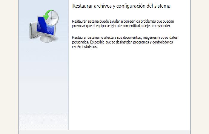 """""""Restaurar sistema"""""""