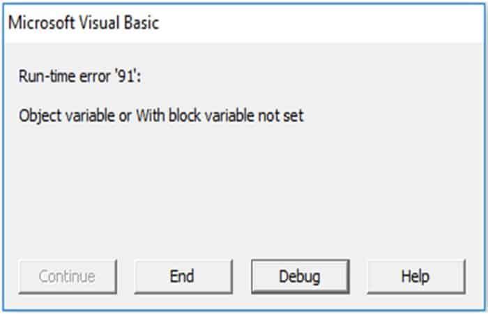 Tratar con valores de error en Excel VBA Find