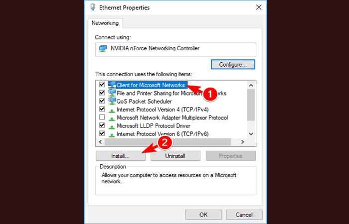 Cliente para redes Microsoft