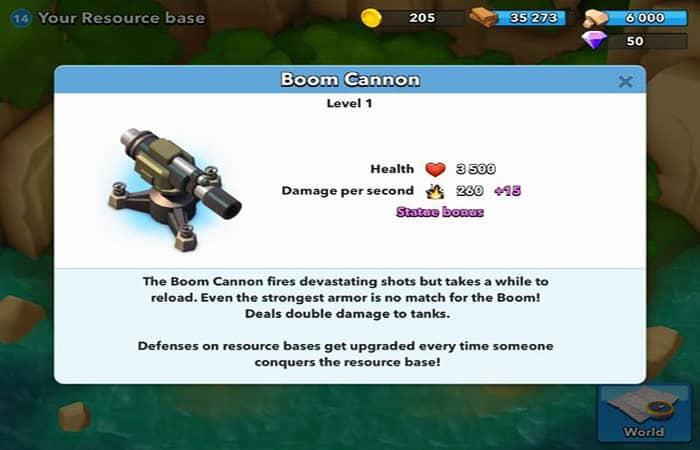 Consejos para Boom Beach para el barco de cañón
