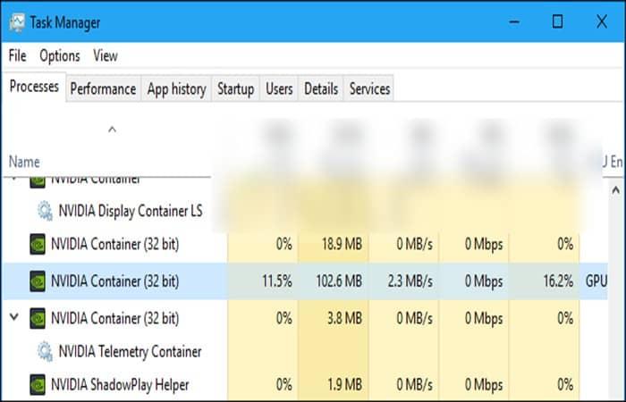 Finaliza los procesos de contenedor de NVIDIA