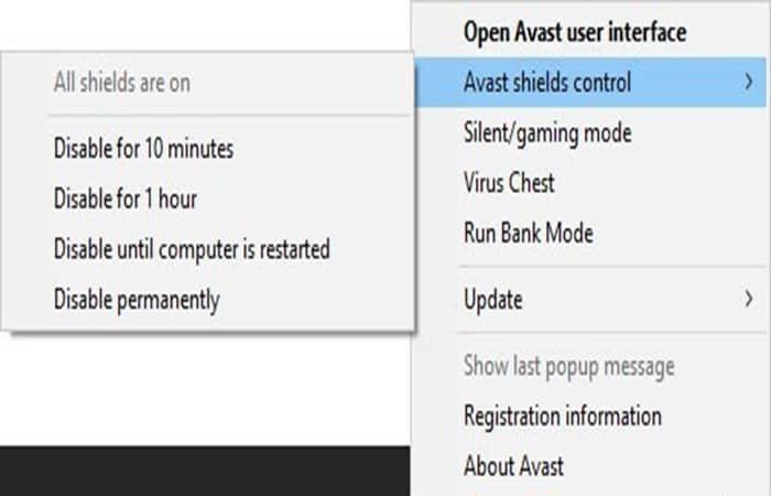 Desactivar el antivirus