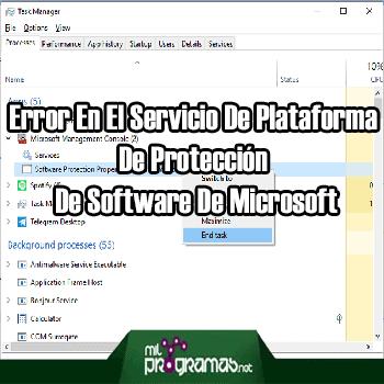 Solución Al Error En El Servicio De Plataforma De Protección De Software De Microsoft