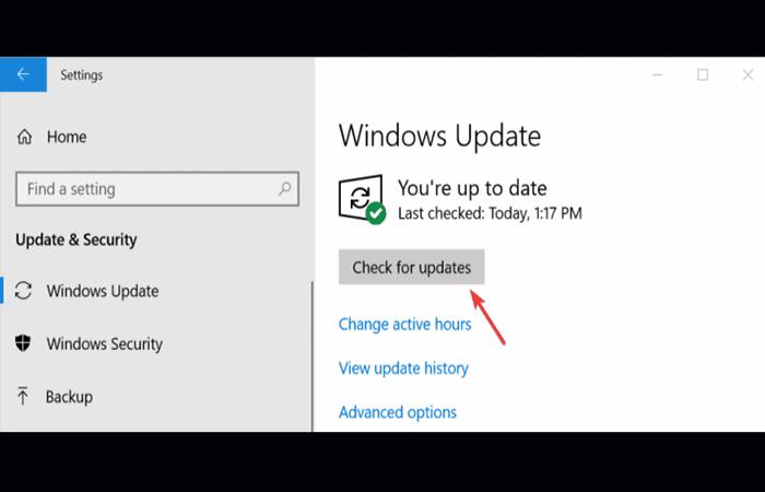 Actualización del sistema operativo Windows