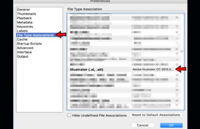 Cambia la configuración de asociación de tipo de archivo