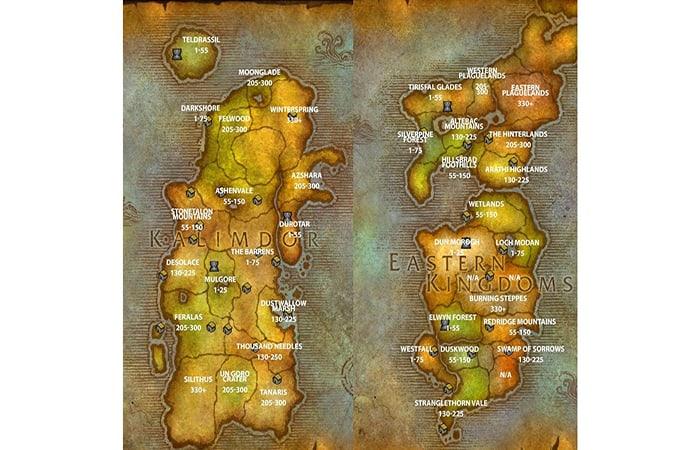 Mapa de pesca de World of Warcraft