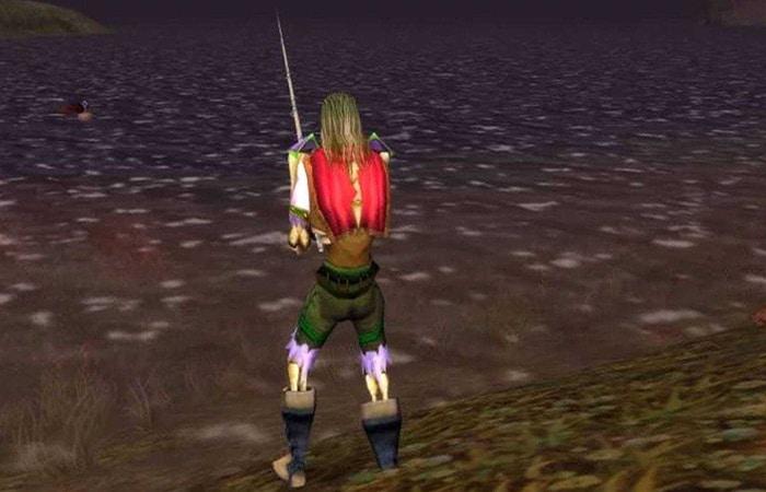 Personje pescano en Mapa de pesca de World of Warcraft
