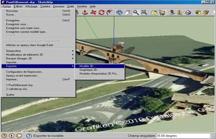 EXPORTACIÓN, MODELO 3D