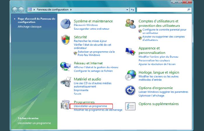 Cómo desinstalar un programa en Windows vista