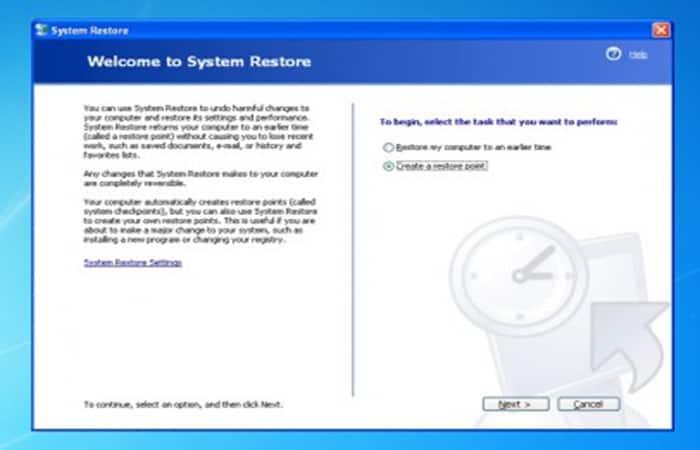 Restaurar sistema