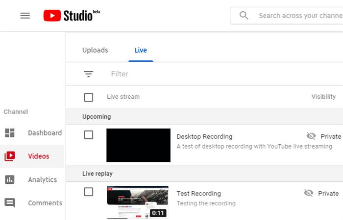 Grabar la pantalla de la computadora con YouTube